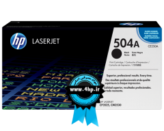 HP 504A Black Original LaserJet Toner Cartridge CE250A